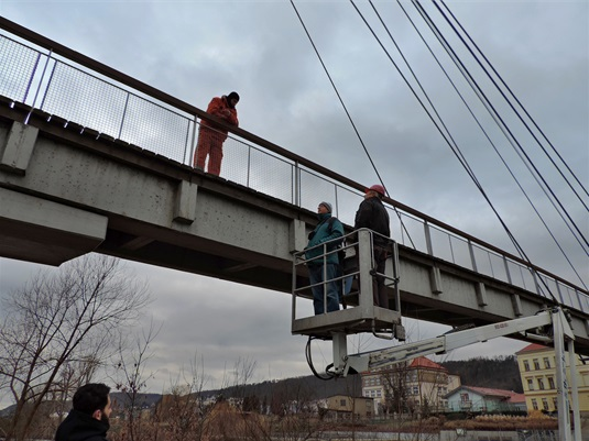 Extraordinary check of the footbridge, 21.12.2017
