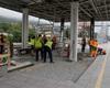 Postup stavebních prací na nových podchodech - na radotínském nádraží a podchod, který bude sloužit pěším a cyklistům po uzavření přejezdu v ulici Na Betonce a legální graffiti na protihlukové stěně, 30.8.2021