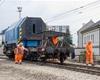 Zatěžovací zkouška nové poloviny železničního mostu, 18.8.2020