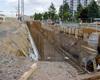 Postup stavebních prací na nových podchodech - na radotínském nádraží a podchod, který bude sloužit pěším a cyklistům po uzavření přejezdu v ulici Na Betonce, 11.8.2021
